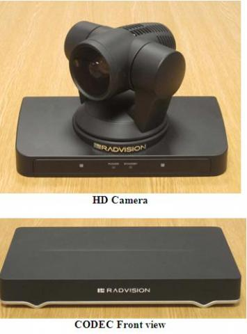 image of the Radvision XT5000 CODEC and camera