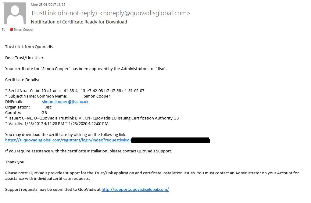 Request Smime Certificate Jisc Community