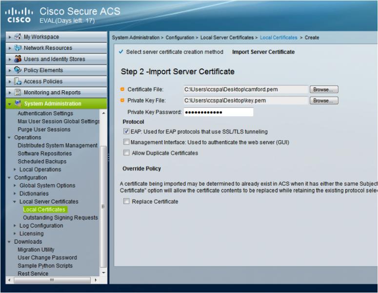 eduroam home Configuration for Cisco ACS 5 3   Jisc community